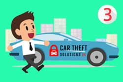 Car Theft solutions Immobiliser cartoon