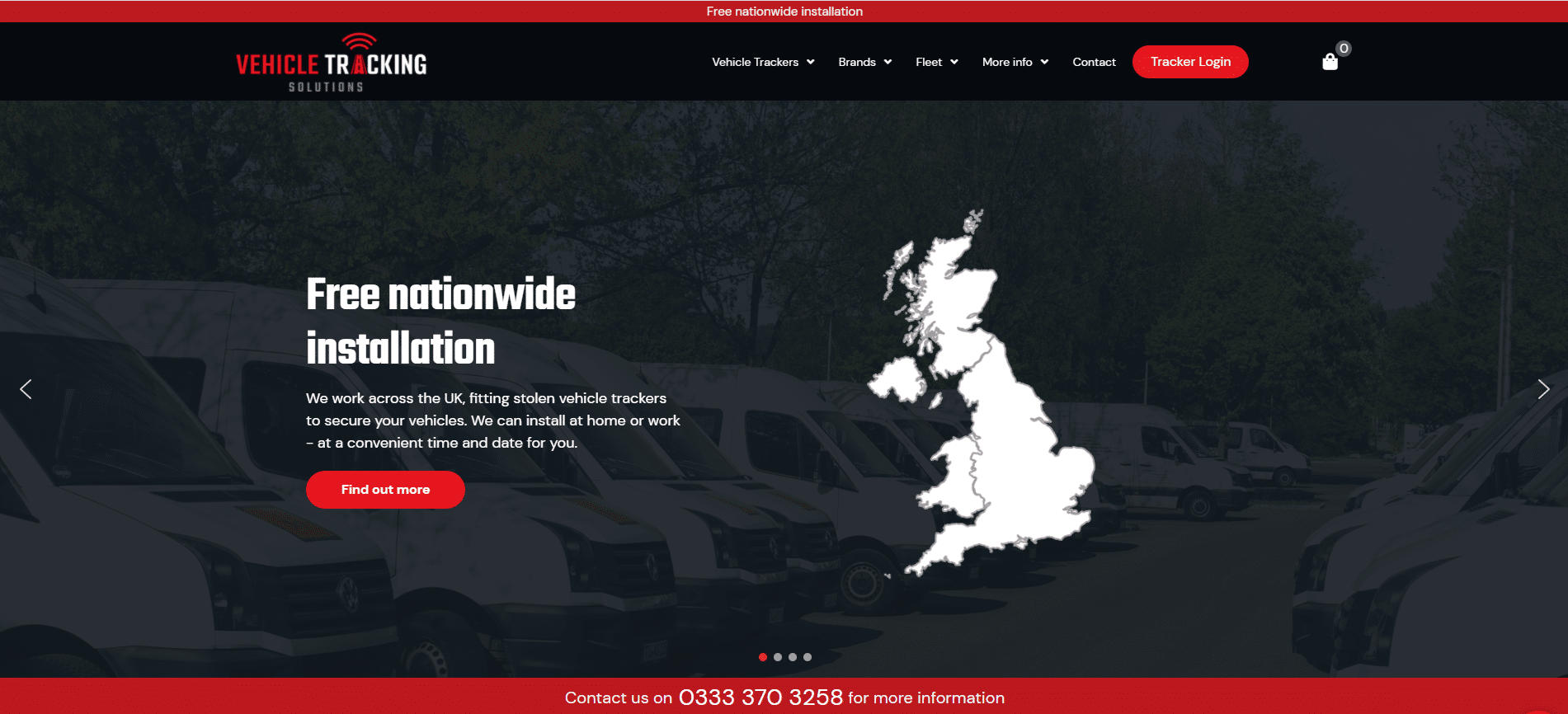Vehicle tracking solutions website